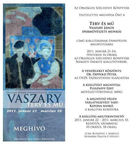 Országos Széchényi Könyvtár: Vaszary kiállítás