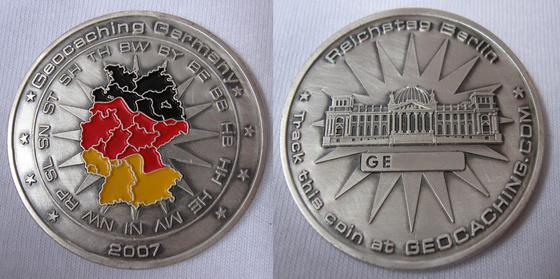Germany FOXFROG40 Geocoin - 2009.08.21.
