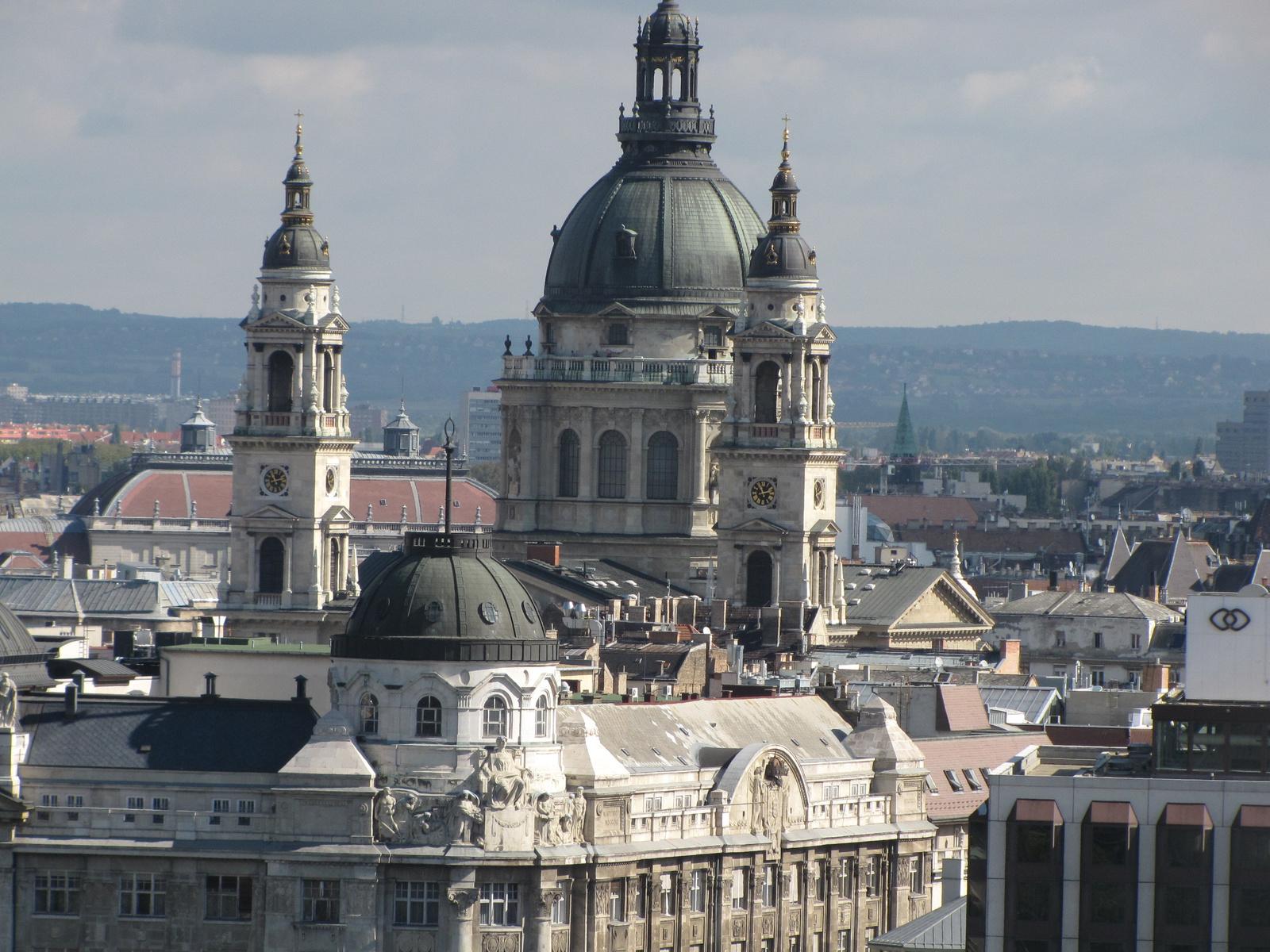 Magyarország, Budapest, a Bazilika a Várból fényképezve, SzG3