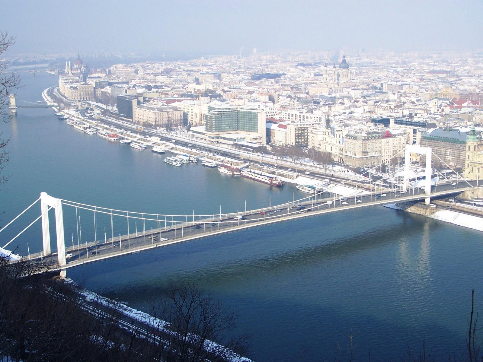 Erzsébet híd télen